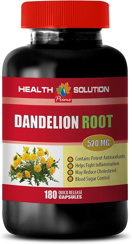 Diuretic for Blood Pressure - Dandelion Root Extract 520Mg - Dandelion Extract Diuretic - 1 Bottle 180 Capsules
