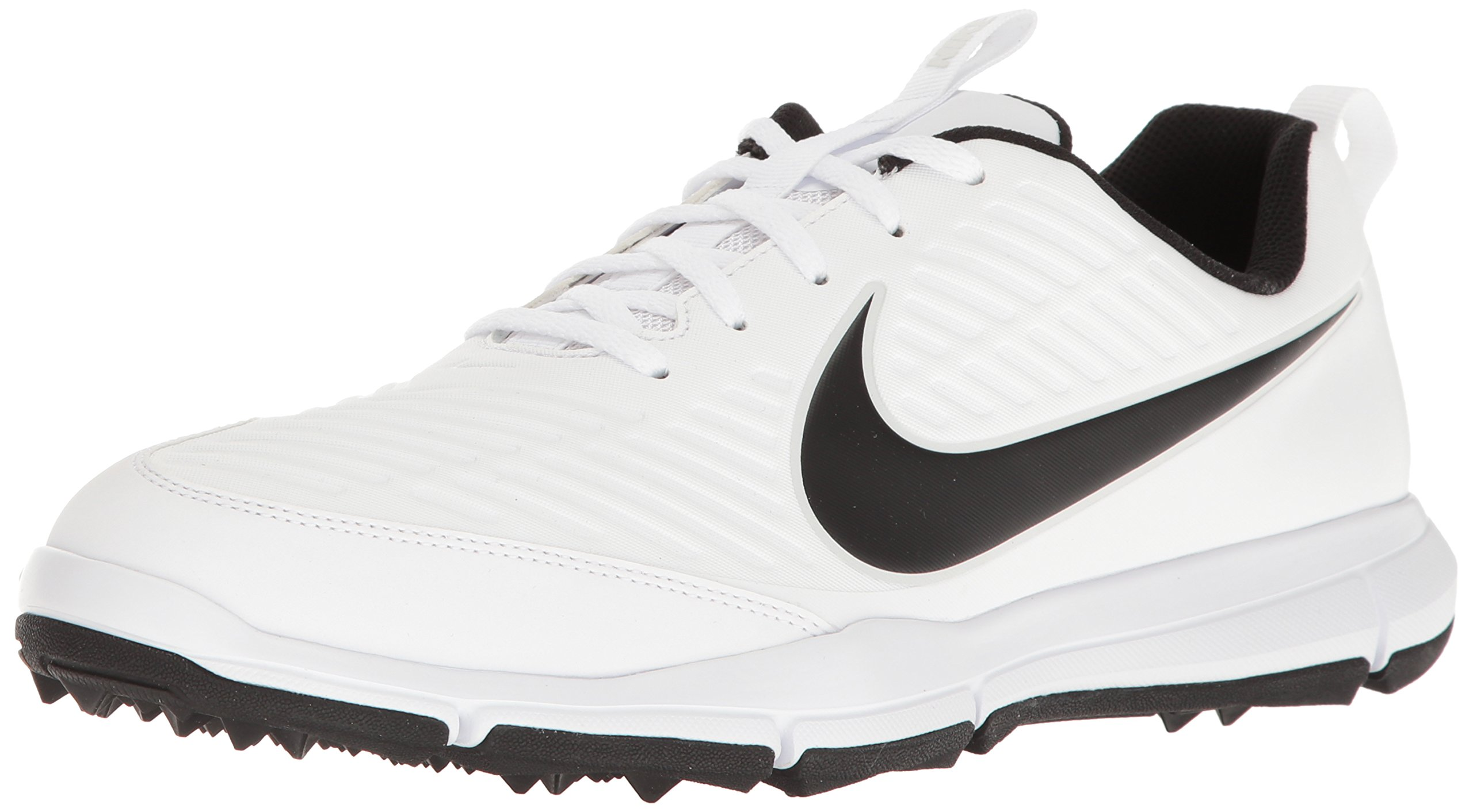 NIKE Men's Explorer 2 Golf Shoe, White/Black, 11 M US by NIKE