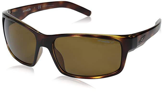 arnette sunglasses ackf  Arnette Fastball AN4202-02 Polarized Rectangular Sunglasses, Brown, 61 mm