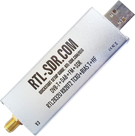 Amazon Com Rtl Sdr Blog R820t2 Rtl2832u 1ppm Tcxo Sma Software Defined Radio Dongle Only Computers Accessories