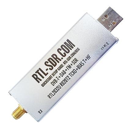 RTL-SDR Blog R820T2 RTL2832U 1PPM TCXO SMA Software: Amazon in