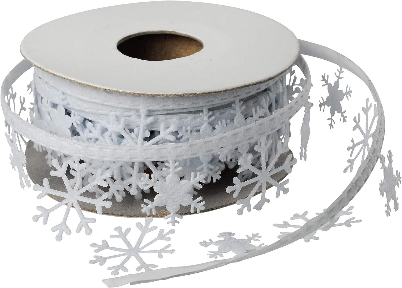 10 Meter Schneeflocke Dekoband Schleifenband Spitze Hochzeit Weihnachts