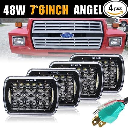 e5cb260a4327 Uni-light Rectangular LED Headlight 5x7 Inch 4pcs Sealed Beam LED Headlight  for Jeep Wrangler