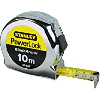 Stanley 0-33-532 Flexómetro Powerlock Blade Armor, 10 m