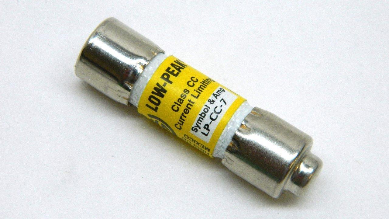 7A Current Limiting Class CC Rejection Cartridge Fuses Bussmann LP-CC-7 600V Midget,Time Delay 7 Amp