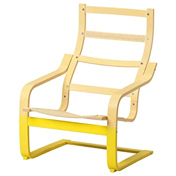 IKEA ASIA POANG - Sillón, Color Amarillo: Amazon.es: Hogar