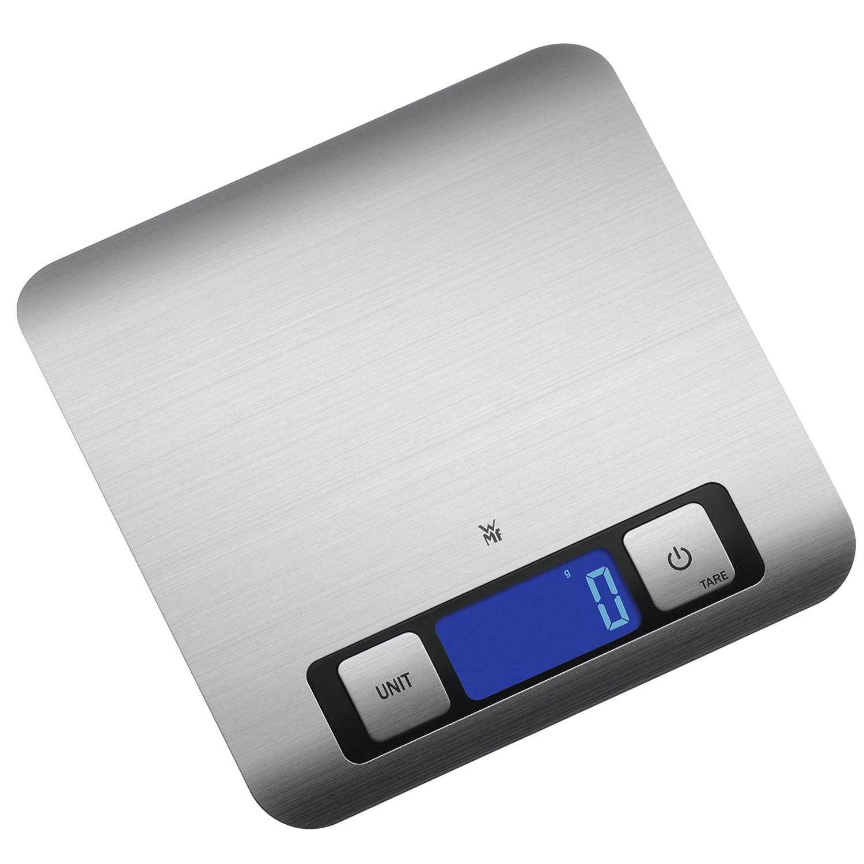 WMF Digitale Küchenwaage Backwaage Haushaltswaage silber Edelstahl ...