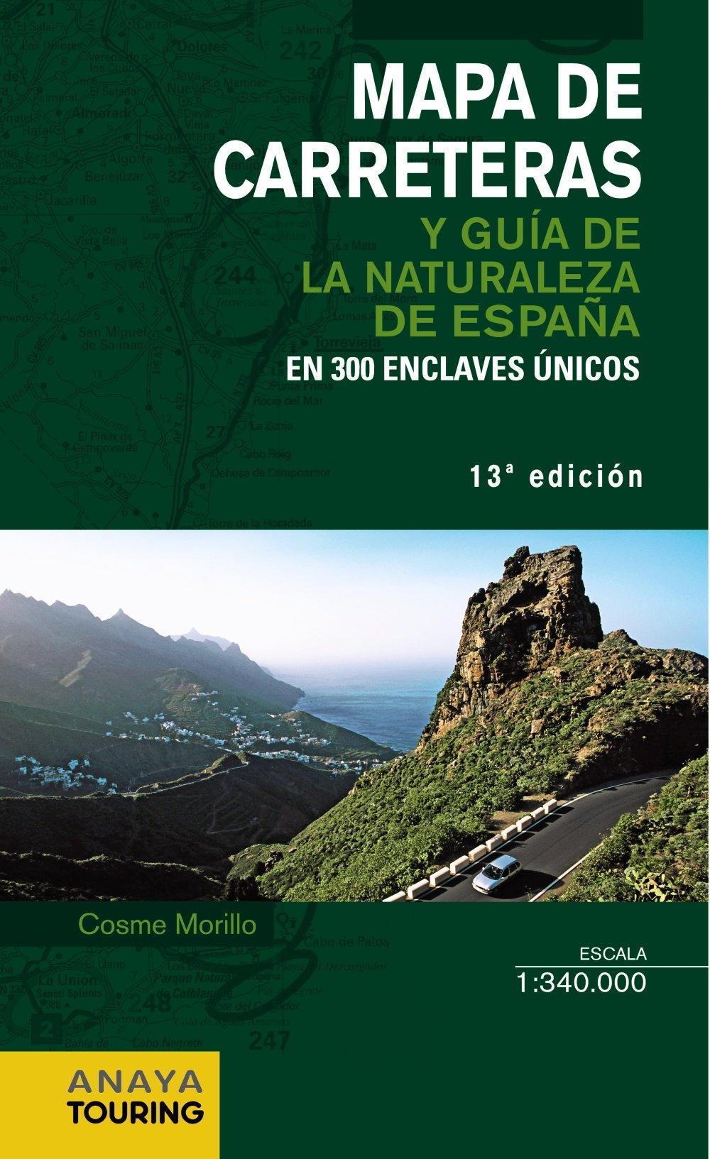Mapa de Carreteras y Guía de la Naturaleza de España 1:340.000 pdf epub