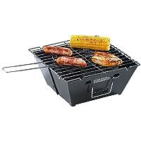 Einweggrill schwarz klein One-Way Camping Picknick ✔ eckig ✔ tragbar ✔ Grillen mit Holzkohle