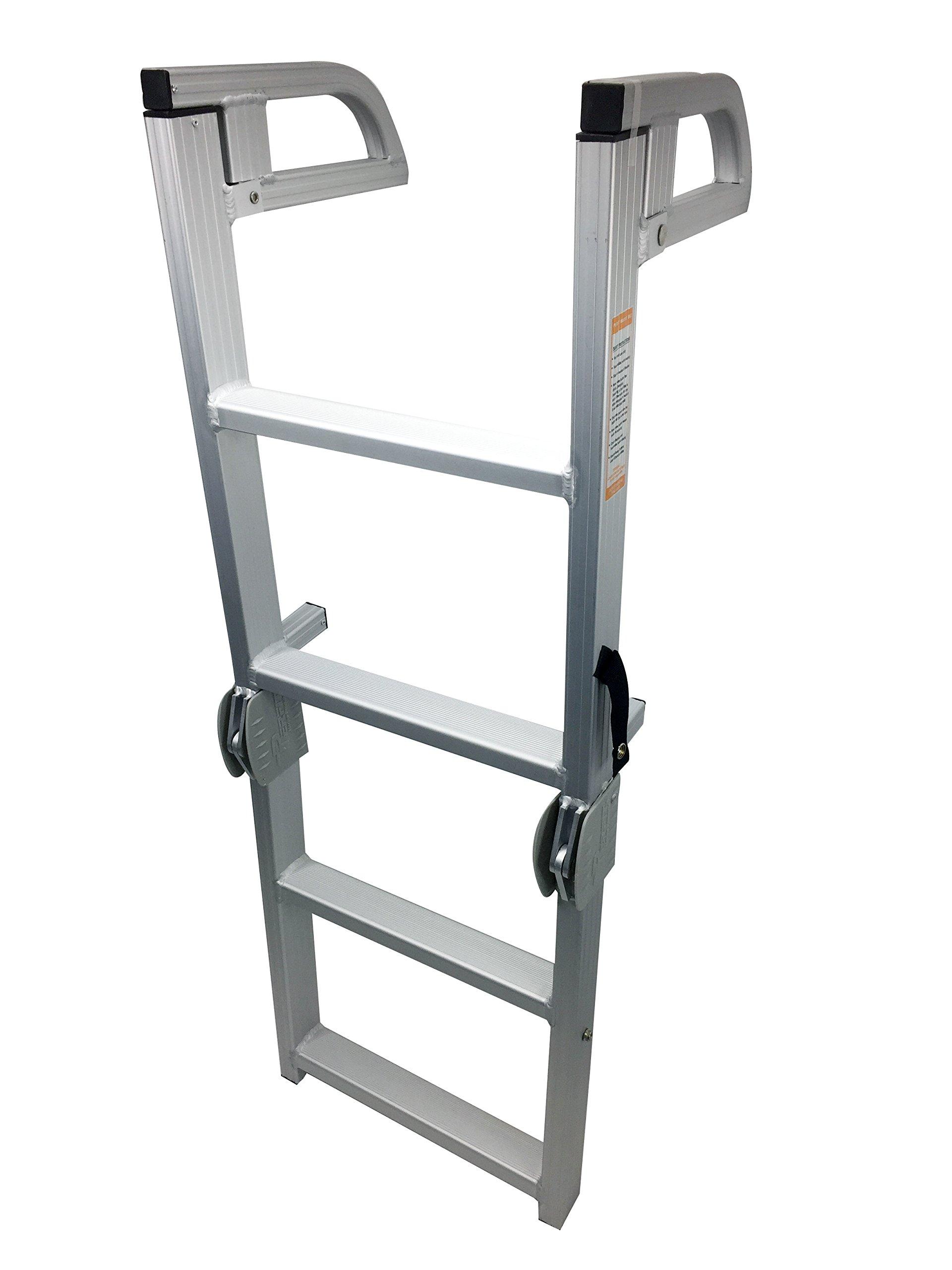 Pactrade Marine Pontoon Boat Folding Boarding 4-step Ladder Aluminum