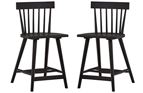 Fabulous Stone Beam Classic Counter Bar Chair Stool With Back 37 5 Inch Height Set Of 2 Black Unemploymentrelief Wooden Chair Designs For Living Room Unemploymentrelieforg