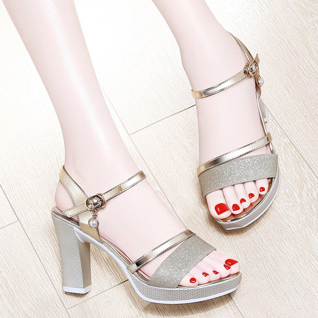 Damenschuhe HWF Sommer Damen High Heels Sandaletten (Farbe (Farbe (Farbe   Gold größe   37) b92ba7