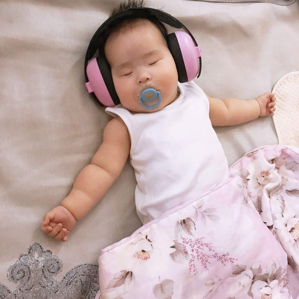 Upgraded Version Blue Baby Ear Protection Noise Canceling Headphones Adjustable Ear Muffs for Autism Newborn Infant Autism Toddlers for Sleeping Airplane Concerts Theater Fireworks