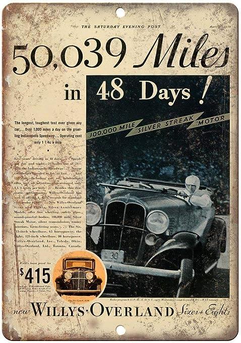 Willys Overland Silver Streak Motor Race Placa Cartel ...