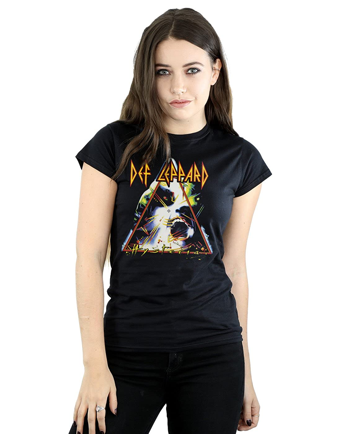 Def Leppard Women's Hysteria Cover T-Shirt Absolute Cult