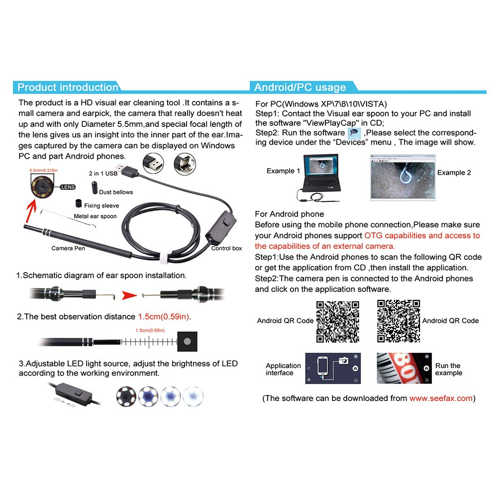 allcaca HD USB Endoskop Werdicht OTG Android PC: Amazon ... on