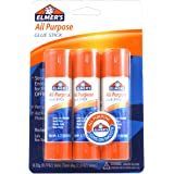 ELMERS All-Purpose Glue Sticks, Large, 0.77 Oz Each, 3 Sticks Per Pack (E5022)