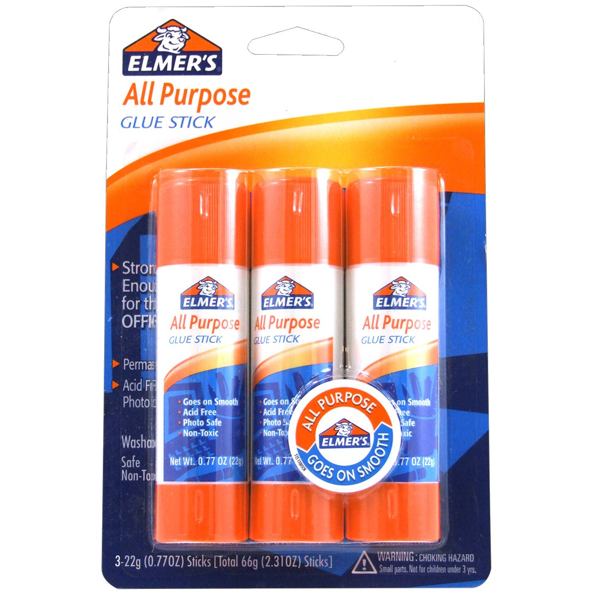 Elmer's All Purpose Glue Sticks, 0.77 Ounce, 3 Count