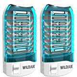 WILDJUE Bug Zapper Electronic Insect Killer[2-Pack] Mosquito Killer Lamp,Eliminates Most Flying Pests! Night Lamp(Blue)