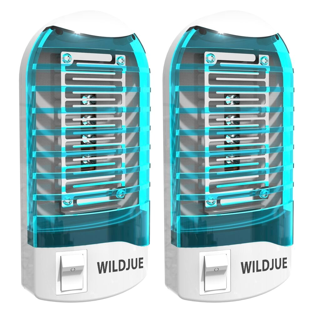 WILDJUE (2 Pack Bug Zapper Electronic Insect Killer Mosquito Killer Lamp,Eliminates Most Flying Pests Night Lamp - Blue (Blue1) by WILDJUE