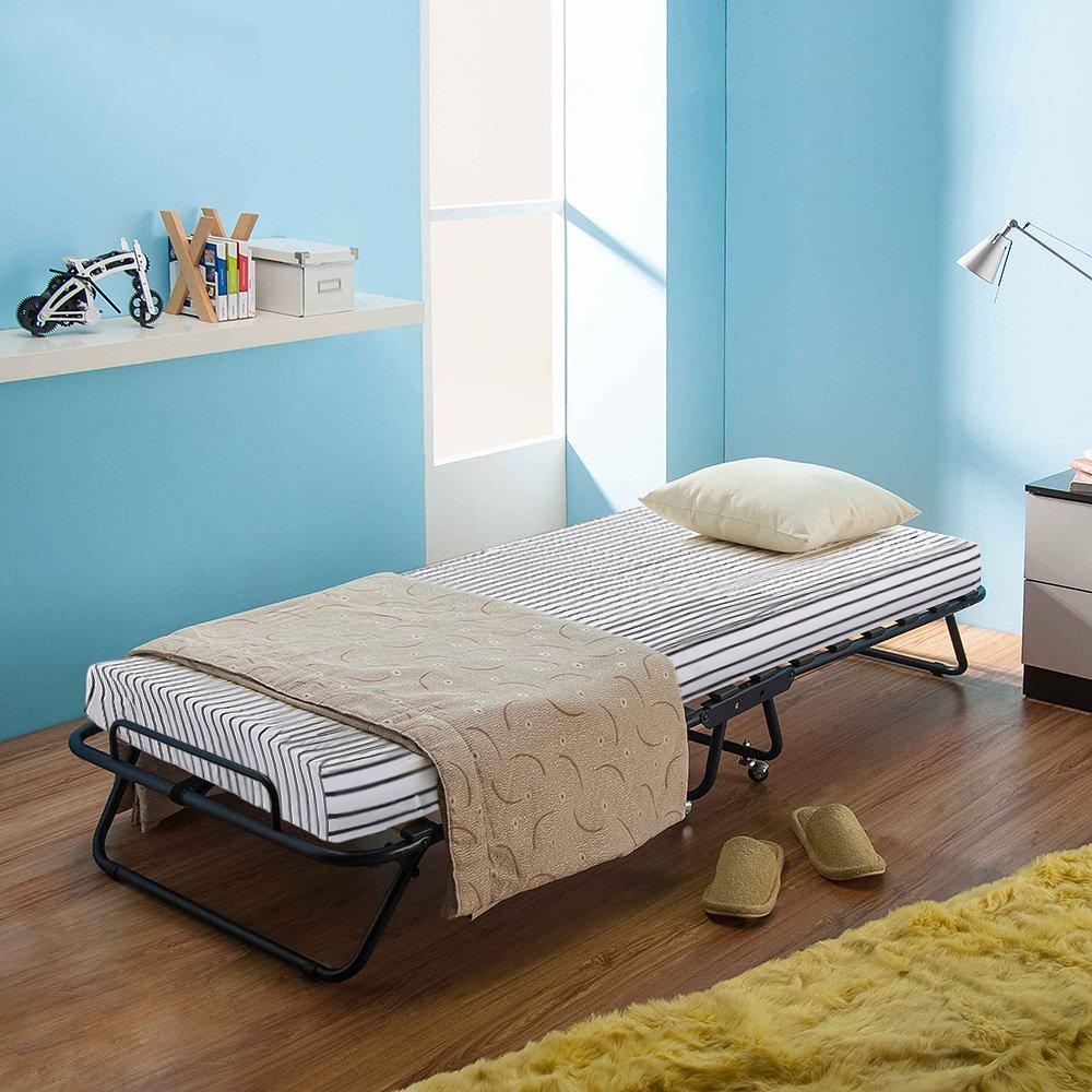 Amazon.de: iKayaa Gästebett Klappbett Bett mit Matratze 191x80x25cm