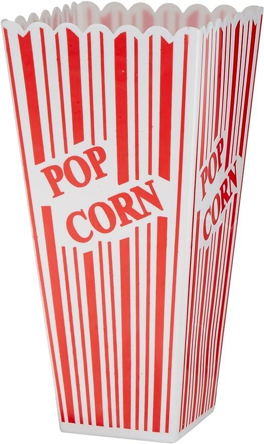 Beistle 57473 - Caja de plástico para Palomitas de maíz, 5,08 x 7 ...