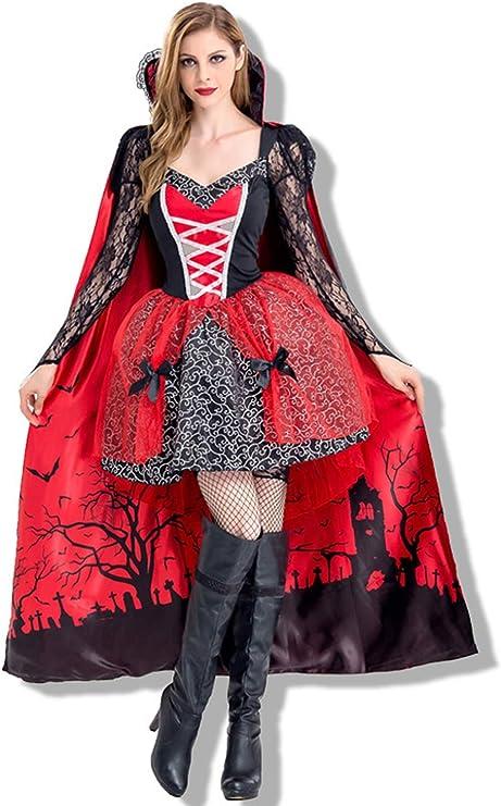 ZC Dawn Disfraz de Vampiro, Disfraces de Halloween Vampiro Sexy ...