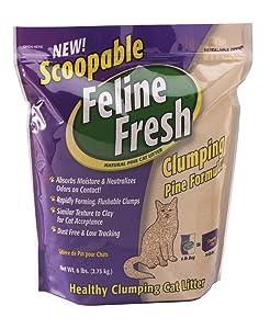 Scoopable Feline Fresh Clumping Natural Pine Cat Litter