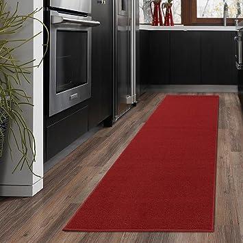 rug on carpet in hallway. Ottomanson Ottohome Collection Solid Design Hallway Wedding Aisle Runner Rug Non-Skid (Non- On Carpet In