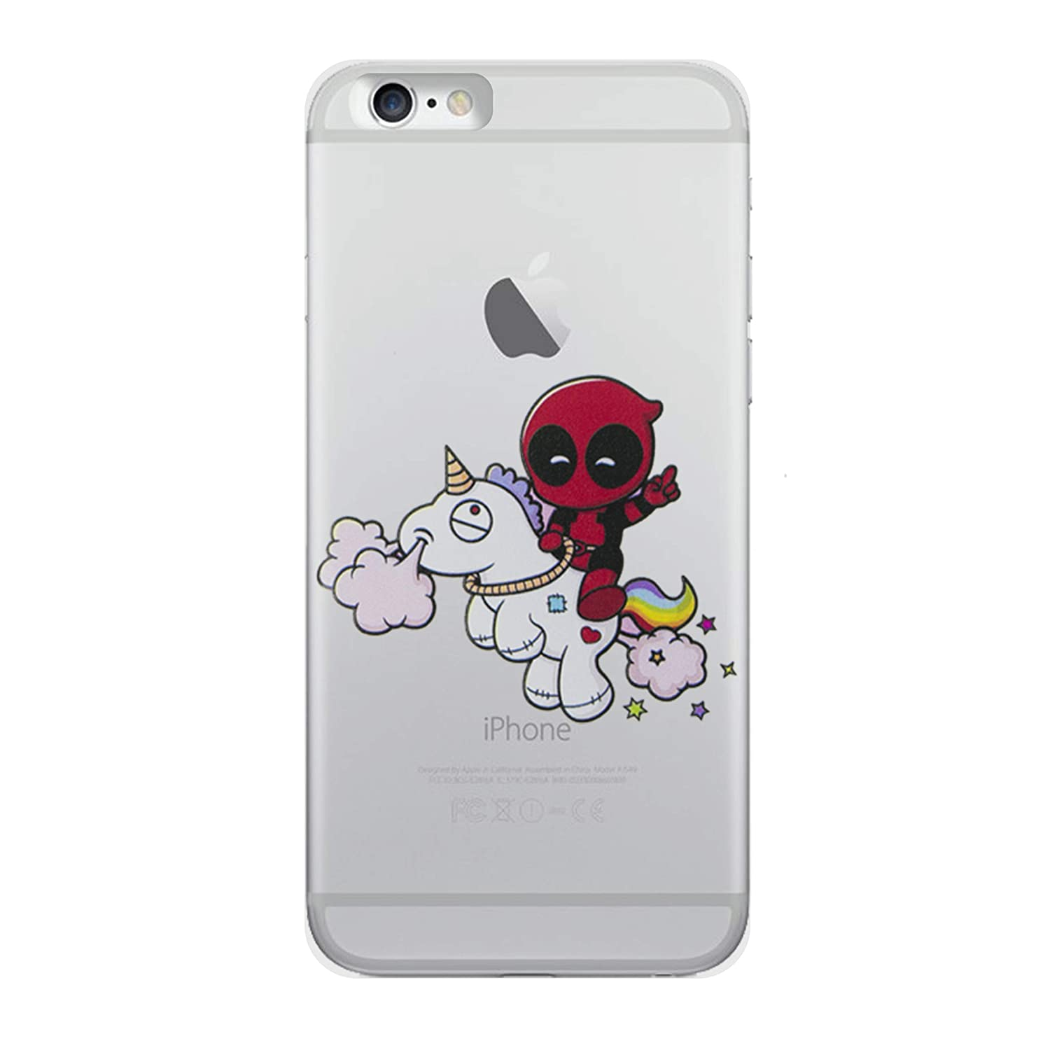 online store 547cb b8d15 iPhone 5/5s Deadpool Silicone Phone Case / Gel Cover for Apple iPhone 5s 5  SE / Screen Protector & Cloth / iCHOOSE / Unicorn Ride