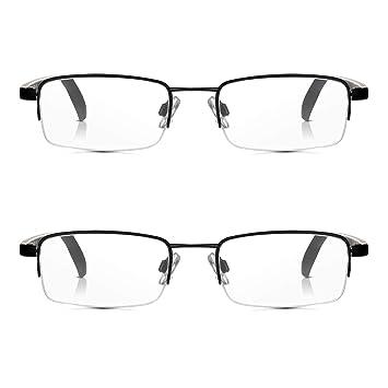 6d4a4b42f6c Read Optics 2 Pack Half Frame Reading Glasses  Vintage Black Metal  Semi-Rimless Ready