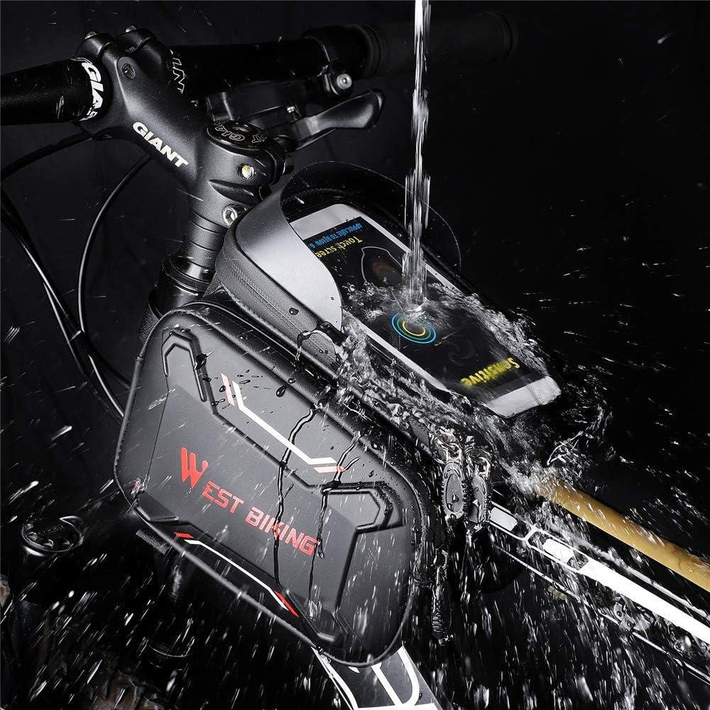 Lixada Pantalla T/áctil Bolsas de Bicicleta Marco Frontal MTB Pantalla Impermeable Bolsa de Tel/éfono Top Tube 180 300 mm 100