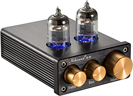 HIFI MINI 6J1 Tube Preamplifier TE-01 Stereo tube Preamp With power adapter