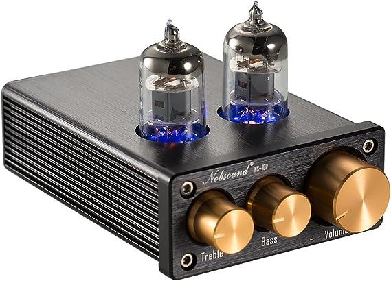 Nobsound NS-10P Mini Vacuum Tube Preamp Audio Hi-Fi Stereo Pre-Amplifier Treble & Bass Control