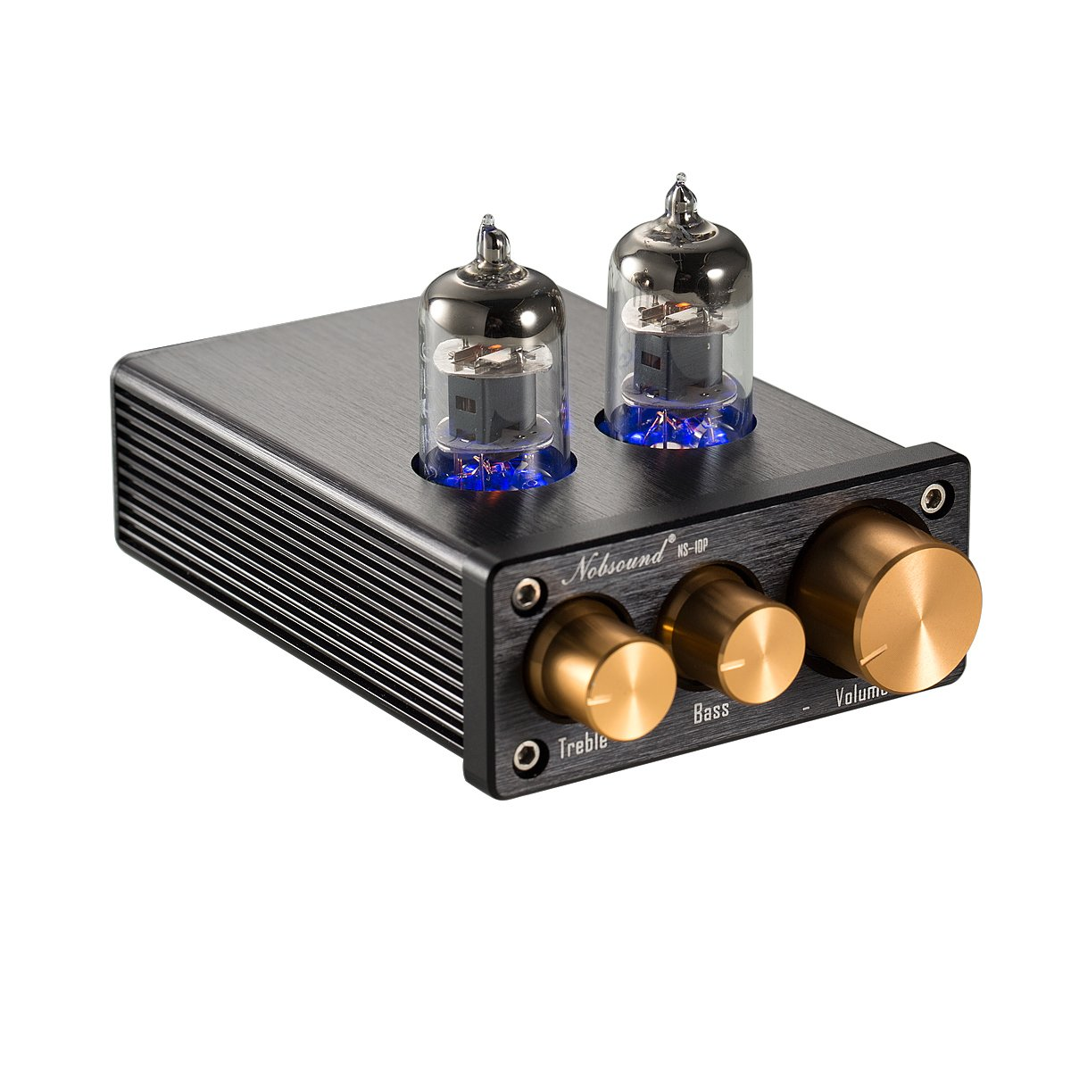 Nobsound NS-10P Mini Vacuum Tube Preamp Audio Hi-Fi Stereo Pre-Amplifier Treble & Bass Control