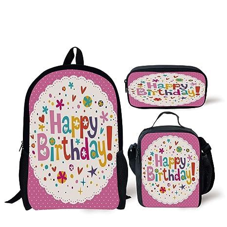 Amazon school lunch pen bagsbirthday decorationslovely retro school lunch pen bagsbirthday decorationslovely retro greeting card inspired design hearts smiles m4hsunfo