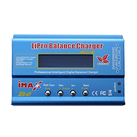 SODIAL(R) B6 Digital LCD Lipo NiMh Cargador de bateria