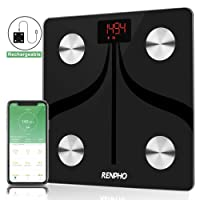 RENPHO Bluetooth Body Fat Scale USB Rechargeable Smart Digital Bathroom Weight Scale with iOS & Android App Wireless BMI Scale for Body Weight, Body Fat%, BMI, Water, Muscle Mass, 396 lbs