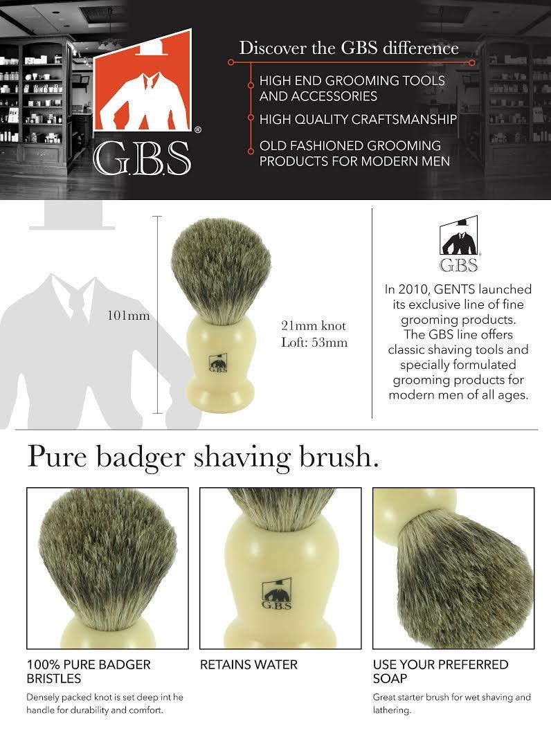 Men's Deluxe & Grooming Shaving Dopp Kit- Ivory Set- Fusion Razor, Shaving Brush, Heavy Duty Mug & Soap
