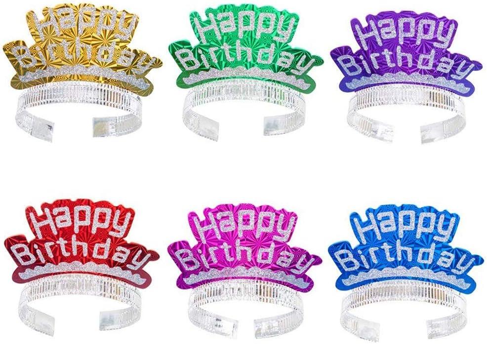 6 Unids Brillo Sellado Caliente Sombreros de Cumpleaños Gorra de ...