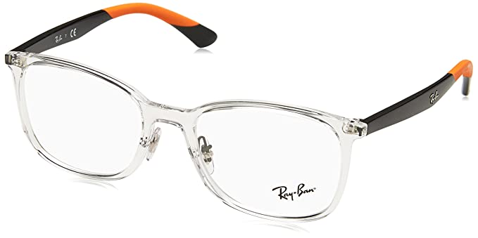 ca49cd062e0 Image Unavailable. Image not available for. Color  Ray-Ban Men s RX7142  Eyeglasses Trasparent 52mm