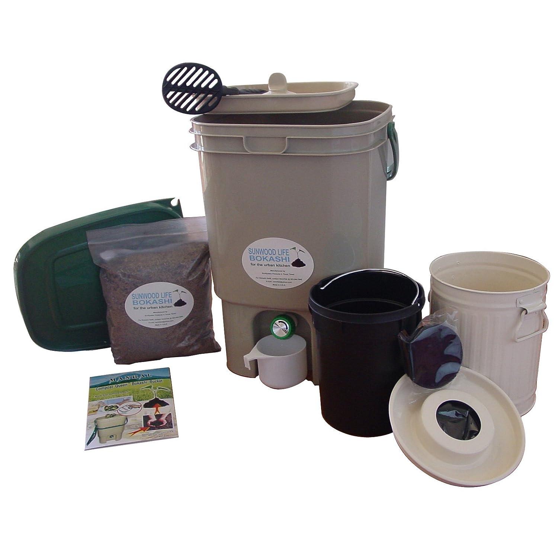 amazoncom sunwood life bokashi compost kit compost bins garden u0026 outdoor