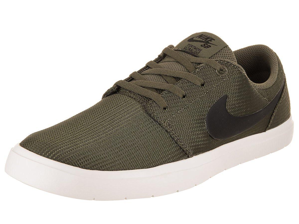 Nike Herren Sportschuhe, Farbe Grün, Marke, Portmore Modell Herren Sportschuhe SB Portmore Marke, II ULTRALIG Grün Olivgrün ad376b