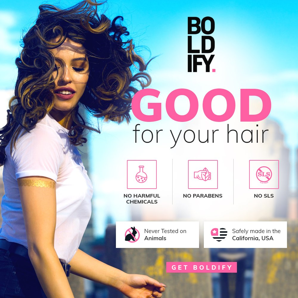 BOLDIFY Hair Thickening Spray - Get Thicker Hair in 60 Seconds - Stylist Recommended Hair Thickening Products for Volume, Texture and Lift - The Ultimate Hair Thickener for Women and Men - 8 Ounce by Boldify (Image #4)