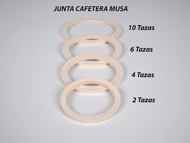 Sanfor 57047 Blíster 2 Juntas para cafetera Tipo MUSA Acero 2 Tazas, Caucho, BLANCO: Amazon.es: Hogar
