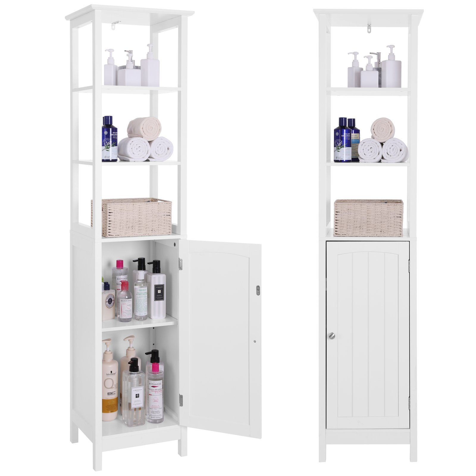 VASAGLE Floor Cabinet, Multifunctional Bathroom Storage
