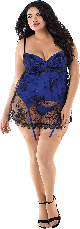 Details about  /Deluxe Black Satin Lace /& Polka Dot Mesh Body Lingerie Plus Size 16-18 20-22