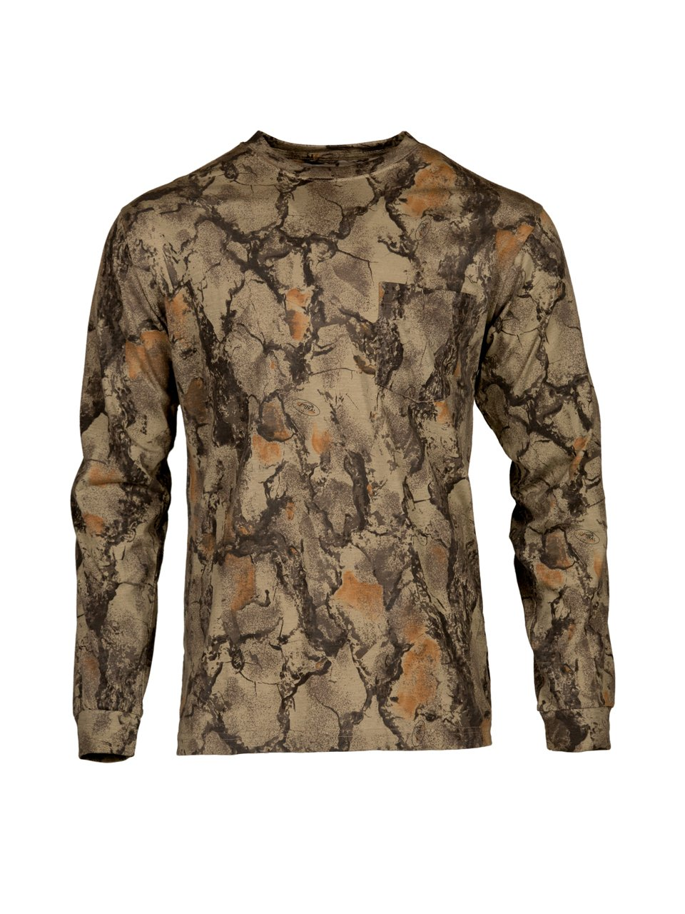 b7b277ea89b3e COTTON/POLY T-SHIRT: Our Natural Gear camo shirt is made out of a  cotton/poly blend material that is lightweight and breathable.