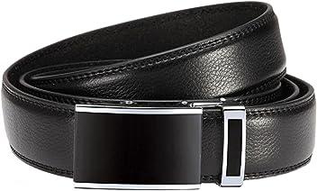 Eg-Fashion Überlängen Gürtel mit Automatikschließe Herren Anzug-Gürtel 3,2 cm Breite - Individuell kürzbar - Stufenlos verstellbar