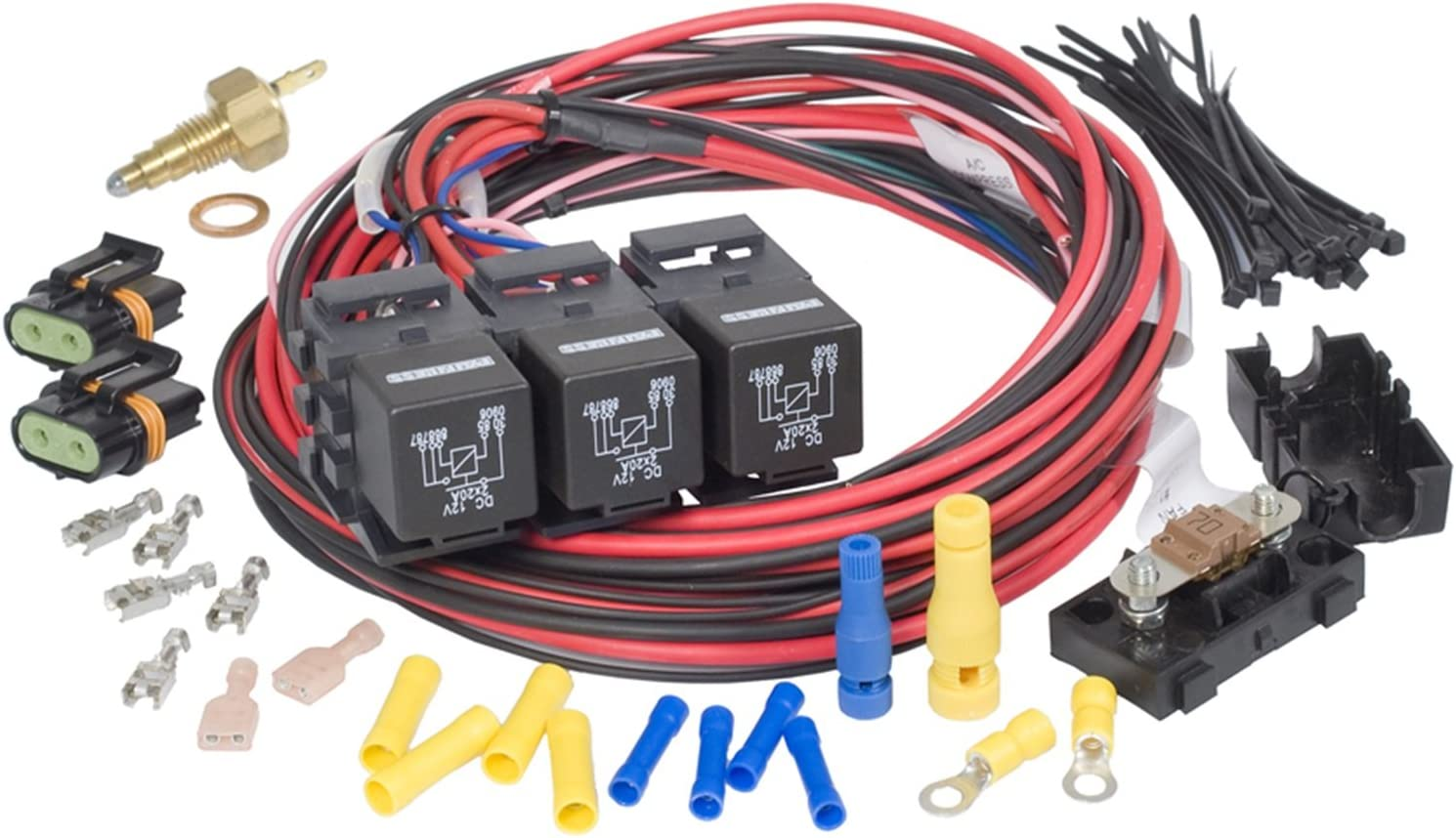 amazon.com: painless performance 30118 dual activation, dual electric fan  relay kit with thermostatic switch (on 205/off 190) for lsx: automotive  amazon.com
